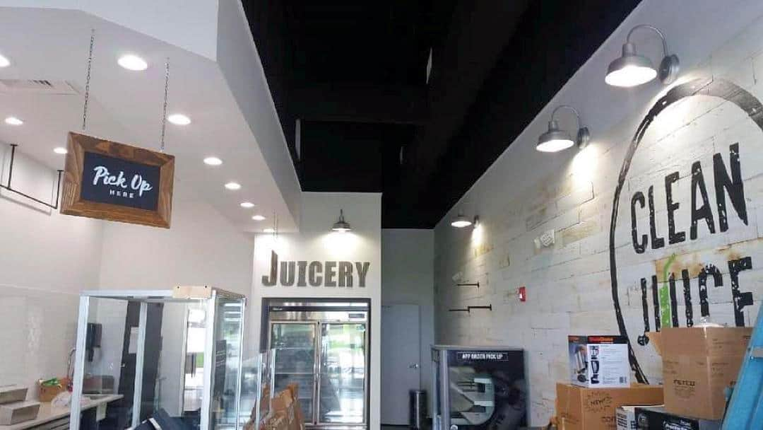 Commercial Electrician Lighting Project